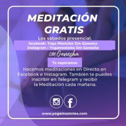 Todos loa Sabados Gratis Meditación
